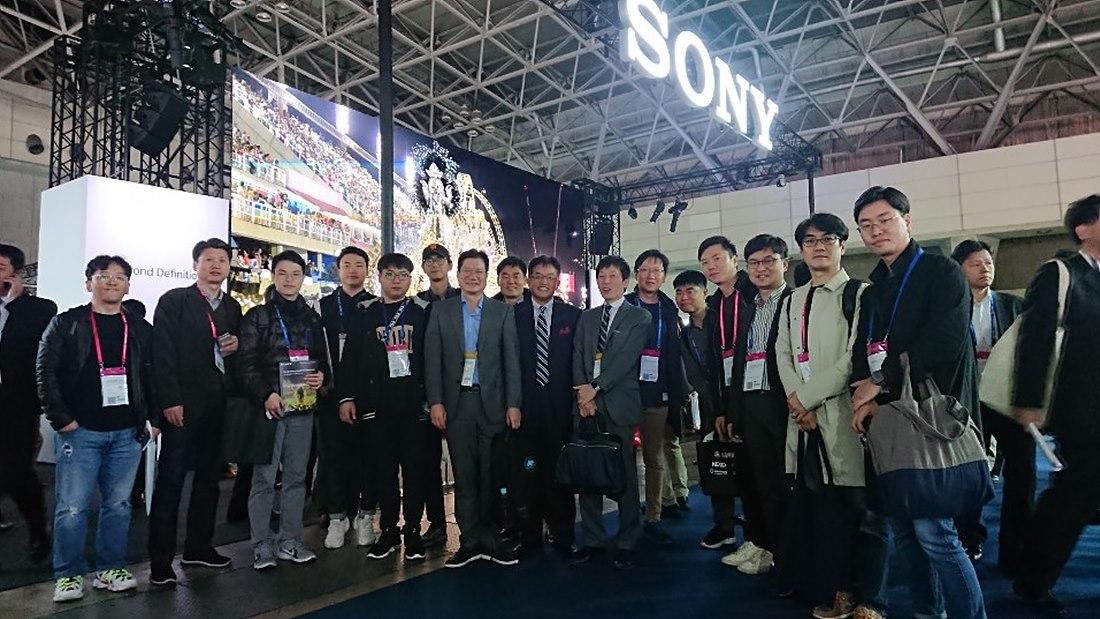 한국방송기술인연합회원, SONY 대표단 단체사진