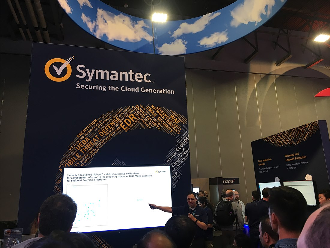 AWS 전시회에 참가한 Symantec