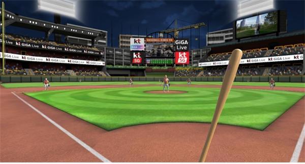 '베이스볼 킹스 VR' 게임 실행화면