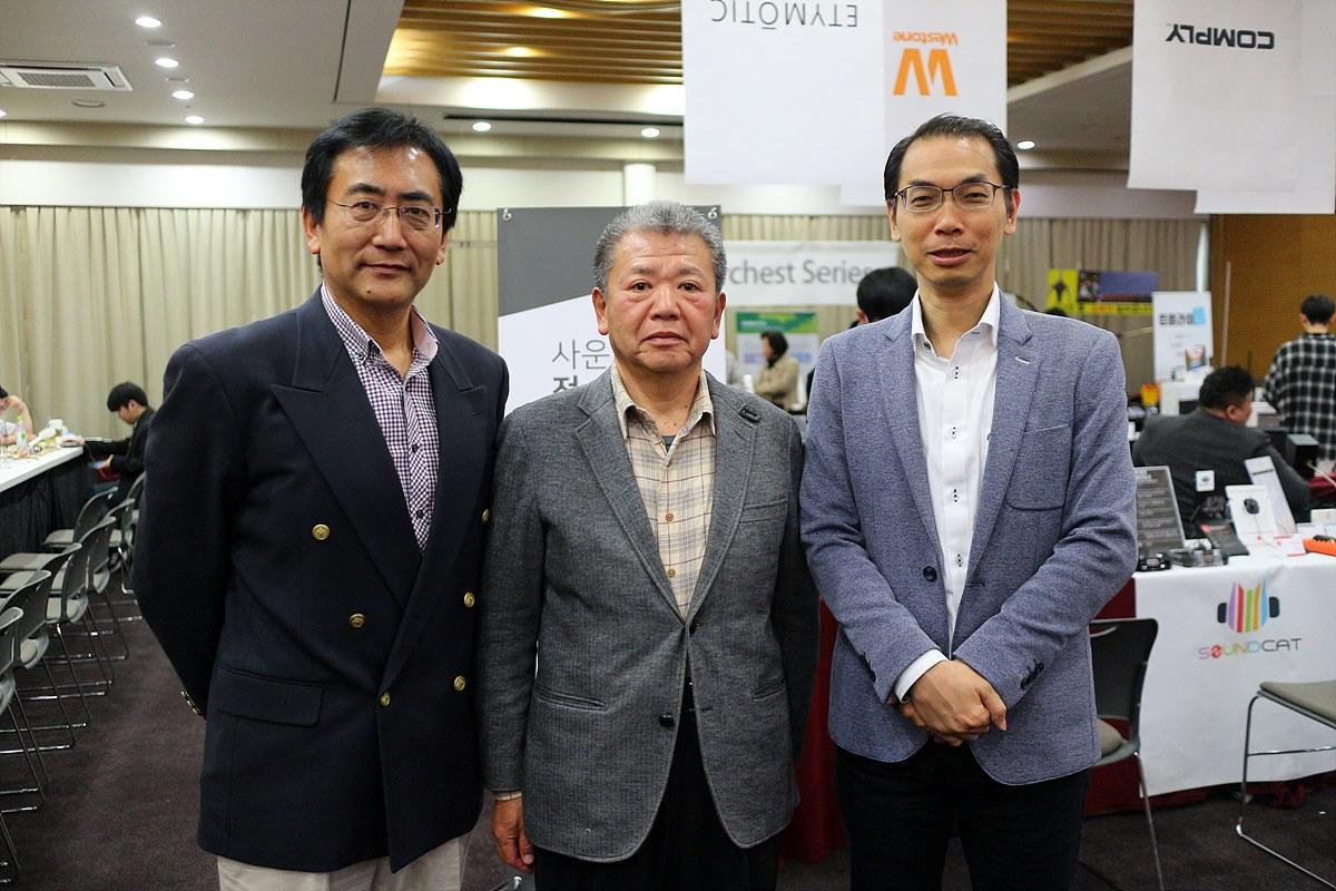 왼쪽부터 Yan hua, Ryoji Higashi, Andy Lam