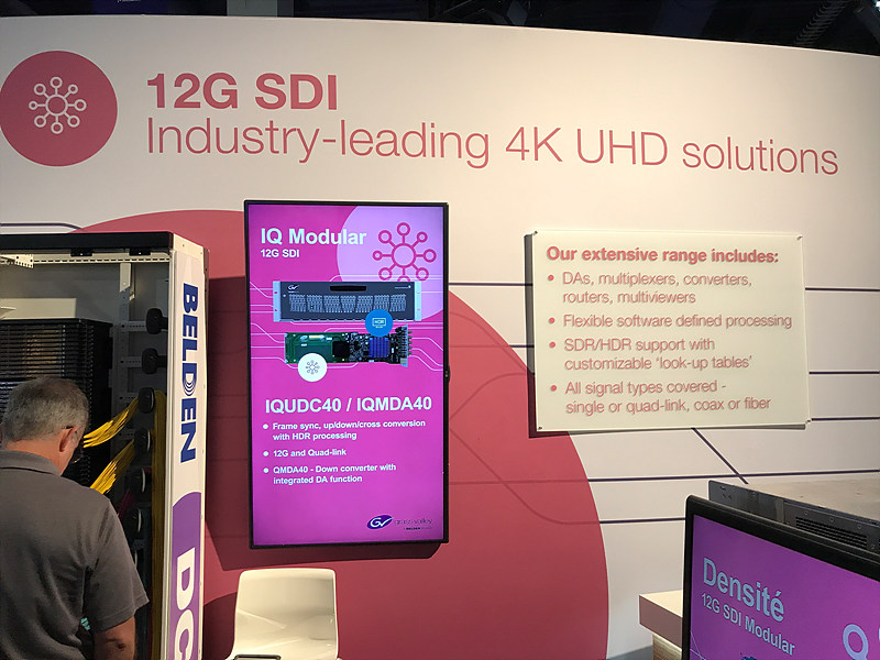 12G-SDI 지원의 IQ Modular
