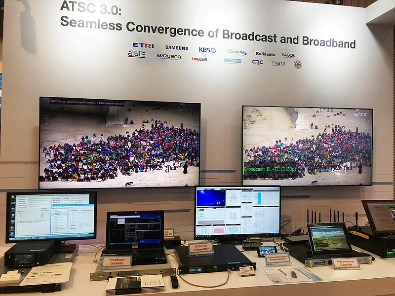 ATSC 3.0을 활용한 방송망과 통신망의 융합 전시