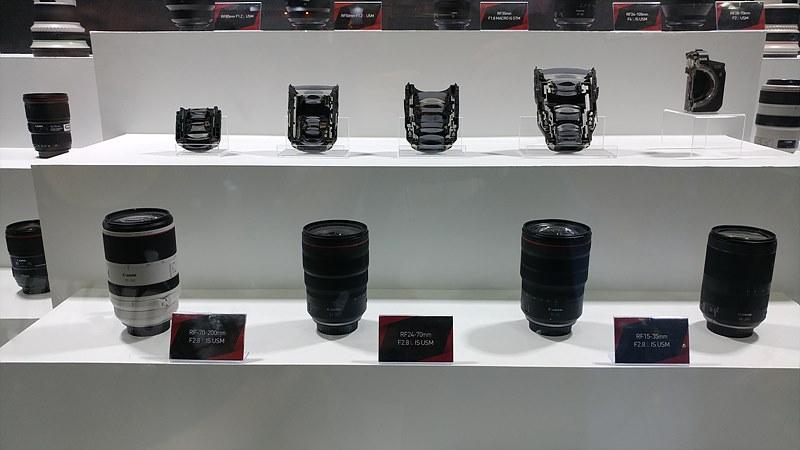 출시 중인 RF 마운트 렌즈들