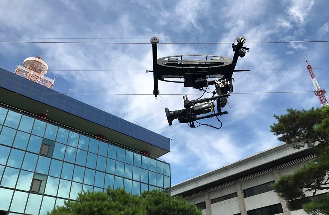 그림 2. 야외에 설치된 Aerial Production System