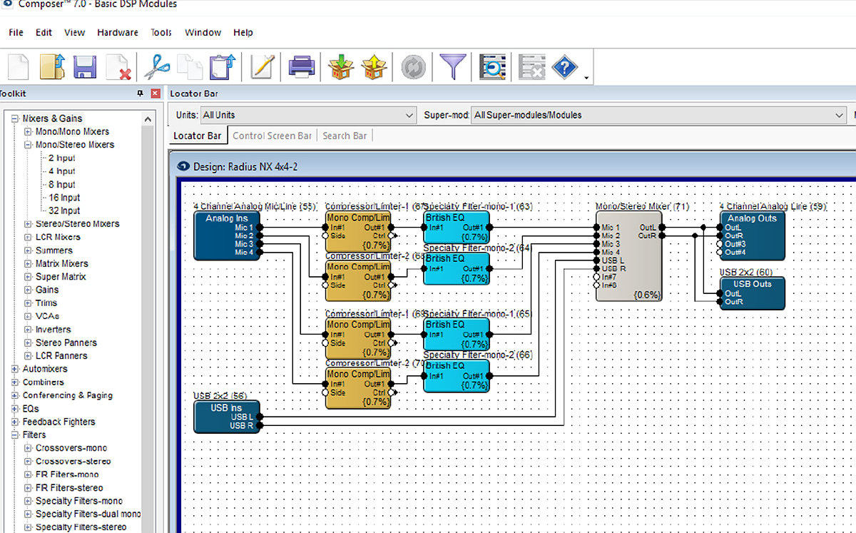 PC를 통한 손 쉬운 네트워크 구성 Composer's Control Modules