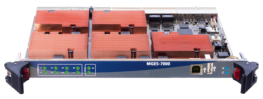 MGES-7000은 4채널의 4K 및 8채널의 HD 동시 HEVC 인코딩이 가능하다