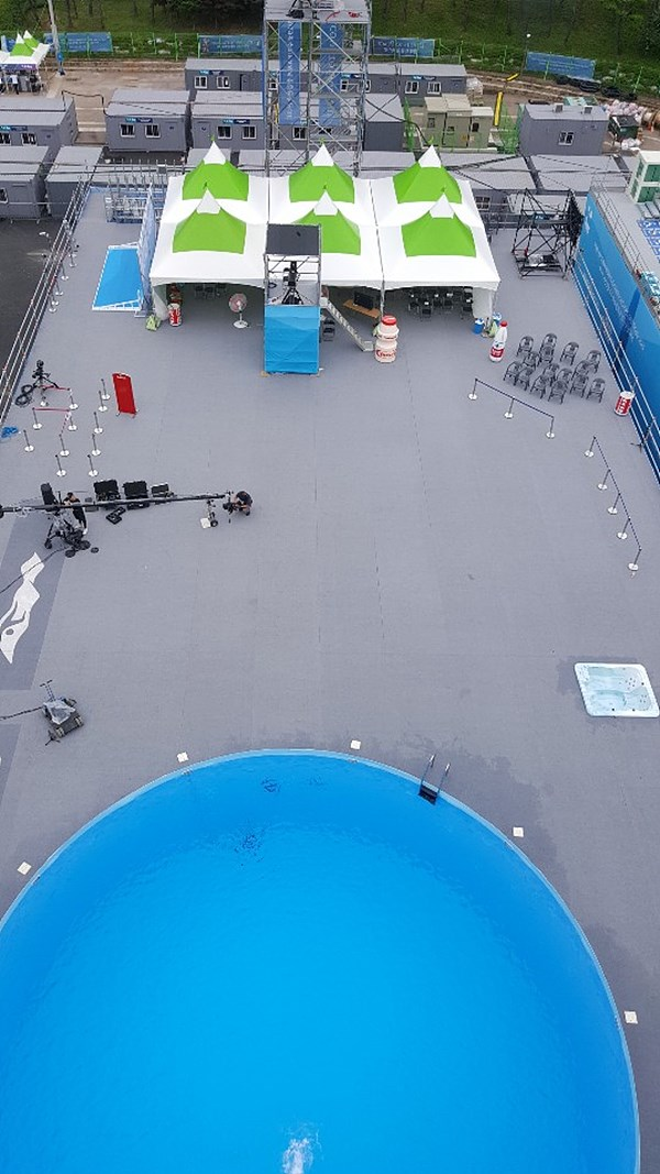 그림 2. 다이빙 플랫폼에서 내려다 본 광경