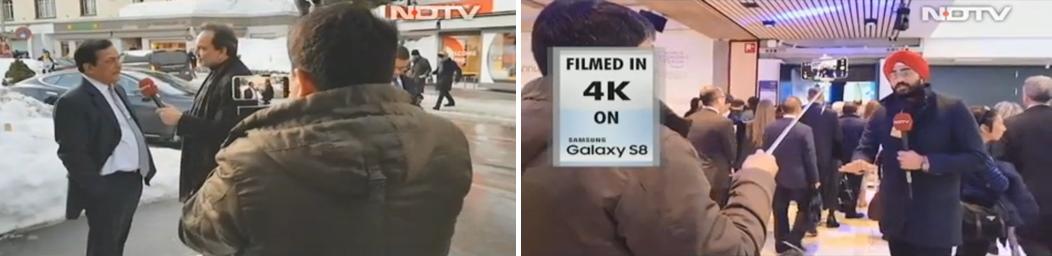 뉴스 현장에 ENG 대신 스마트폰 취재를 도입한 NDTV