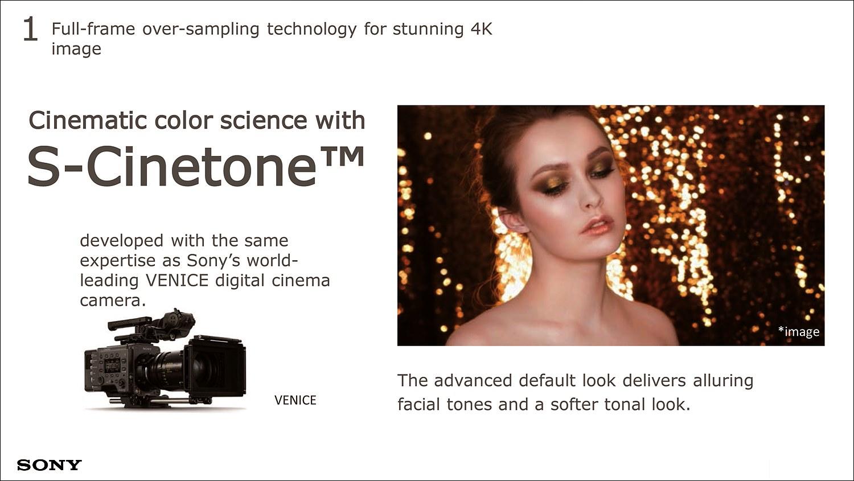 VENICE 카메라와 동일한 컬러 사이언스를 탑재, 인물의 피부색을 보다 부드럽고 매력적으로 재현한다