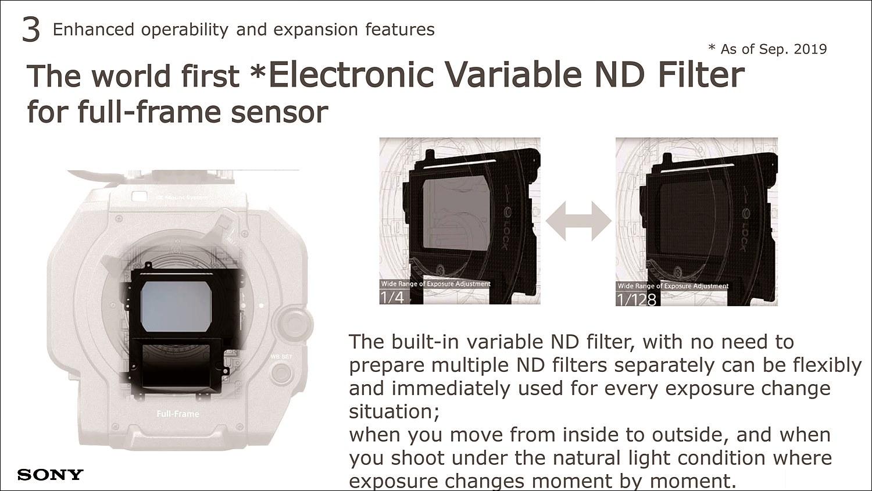전자식 가변 ND 필터를 탑재하여 자연스러운 빛을 표현한다