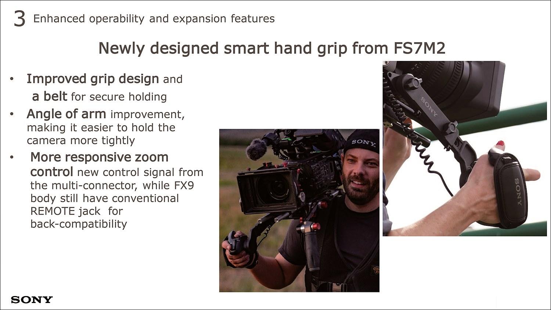 FS7M2 대비 핸드 그립도 새롭게 디자인하여 착용 느낌을 향상시켰다