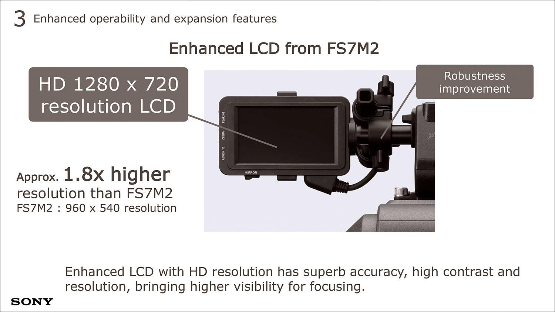 960×540에서 1280×720으로 LCD 해상도를 1.8배 높였다