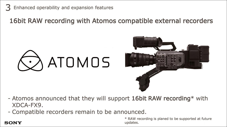 ATOMOS는 16비트 RAW 레코딩 지원을 발표했다