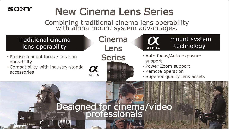 기존 시네마 렌즈와 알파 마운트 시스템 기술을 결합한 새로운 시네마 렌즈가 출시되었다