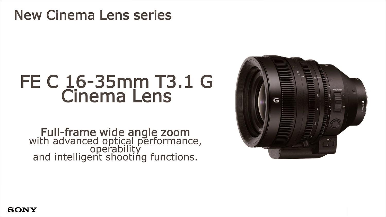 새롭게 출시되는 E-mount 렌즈 FEC 16-35mm T3.1G 시네마 렌즈