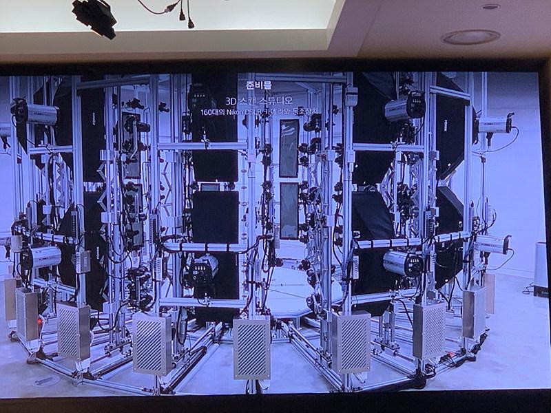 그림 7. 3D 스캐닝을 위한 촬영 장치