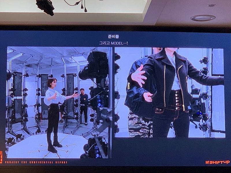 그림 8. 3D 스캐닝 과정(의상 착용 및 모델링)