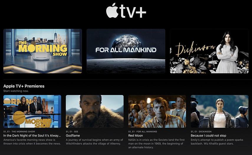 그림 2. 애플 스트리밍 서비스 '애플 TV+' / 출처 : PCMag Digital