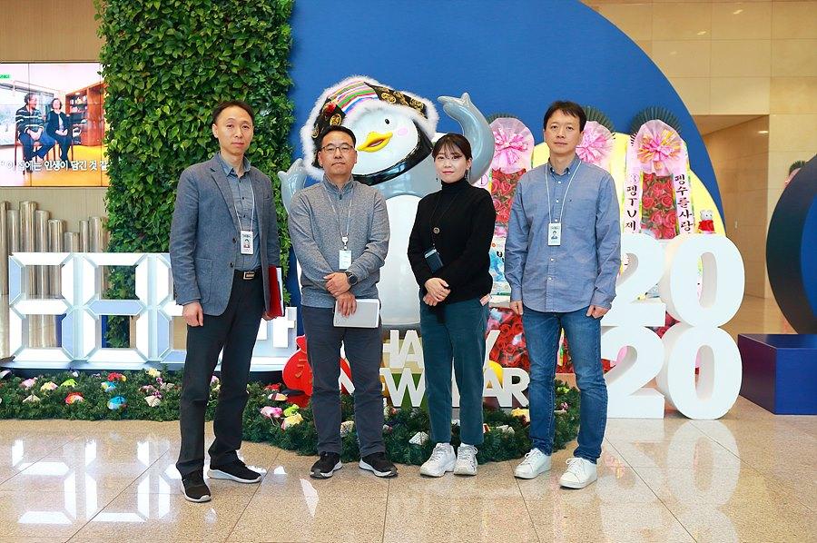 왼쪽부터 신일수 부장, 윤현철 부장, 김희정 부장, 박병진 팀장