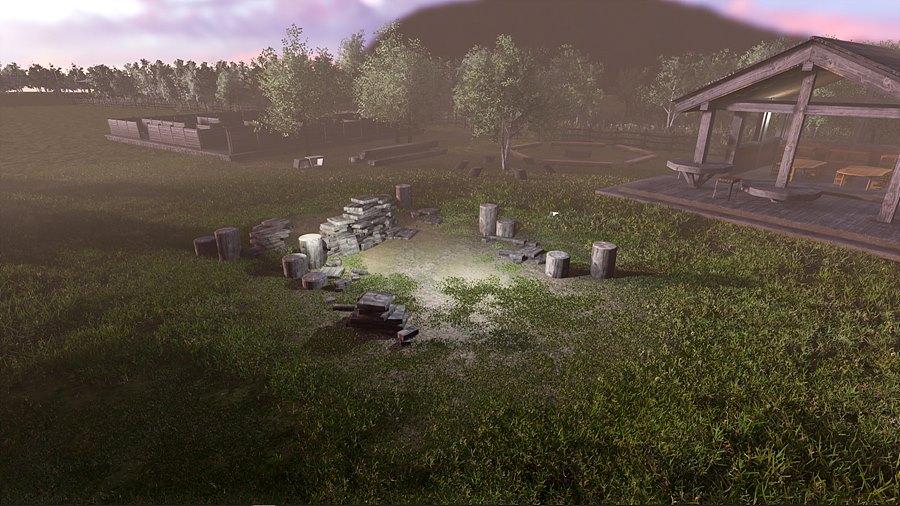 그림 6. 3D 그래픽으로 구현한 가족들 추억의 공간 '노을공원'