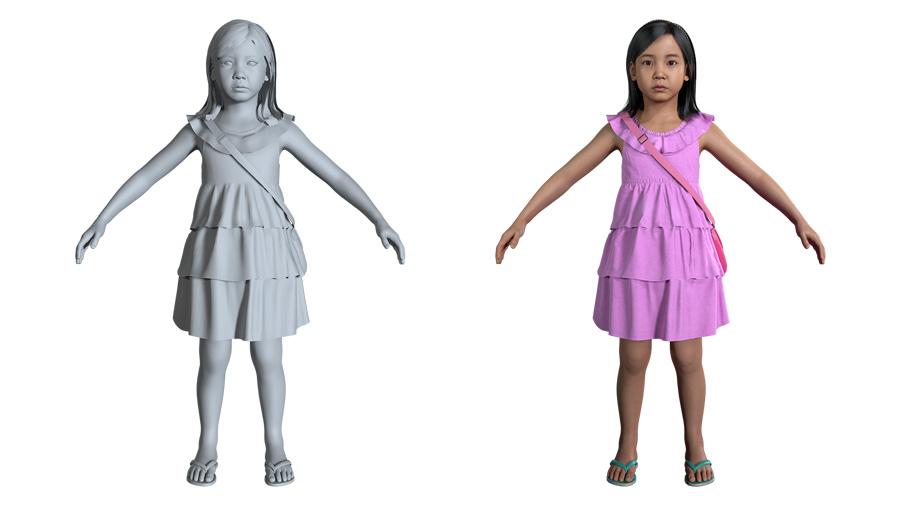그림 11. 나연이 모습을 3D 디지털로 복원한 모습