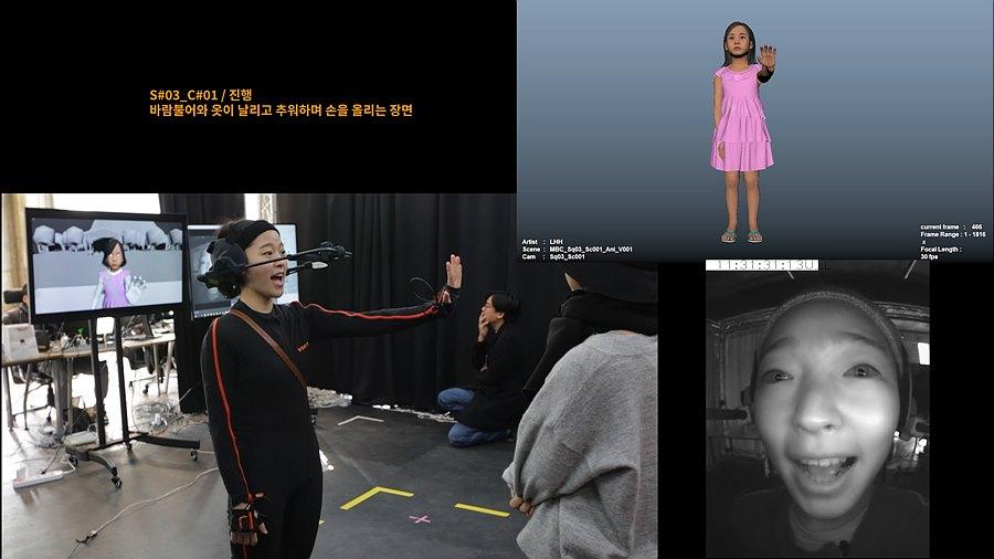 그림 12. 모션캡처 및 페이셜 촬영 장면
