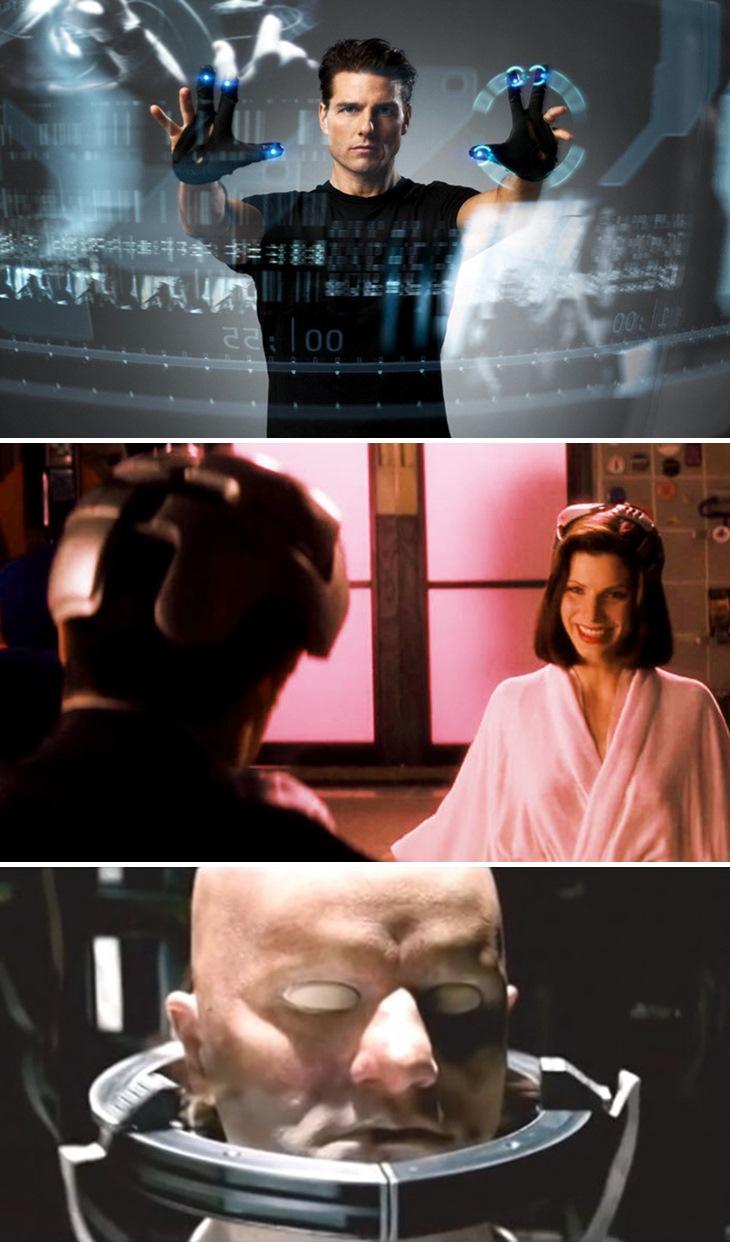 그림 1. 공상과학 영화 속 첨단 기술 / 출처 : 인터넷 포털 영화 검색