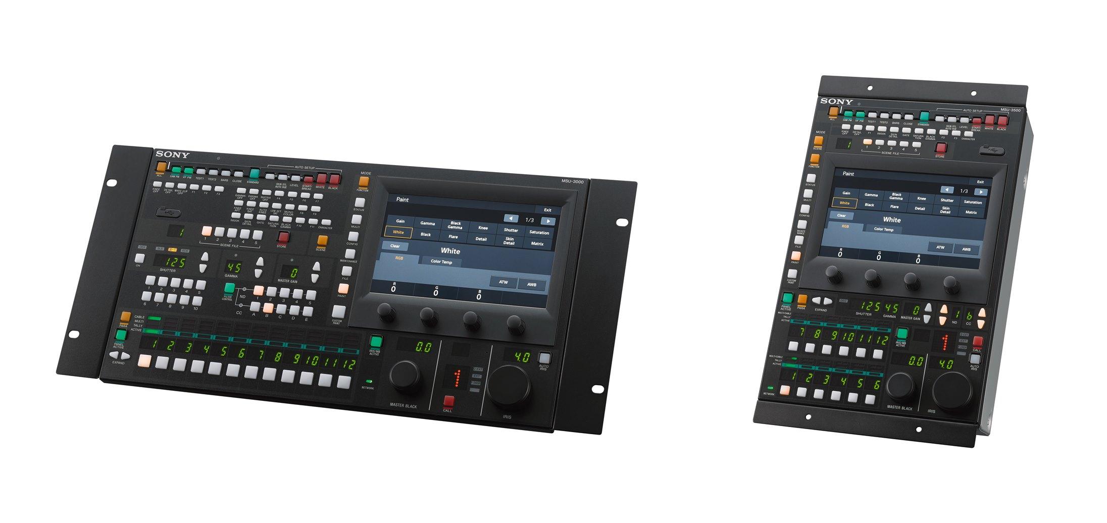 시스템 카메라용 마스터 셋업 유닛, MSU-3000(좌)와 MSU-3500(우)