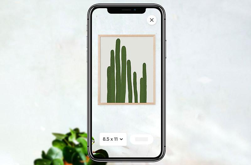 그림 5. 엣시(Etsy)의 AR 쇼핑 / 출처 : Gartner (2020. 6. 25).