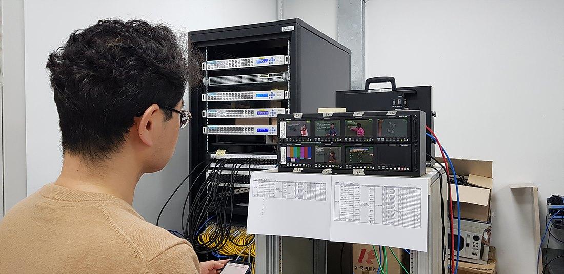 인코딩실 임시 모니터링 설치