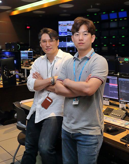 윤도훈(좌), 홍지훈(우) 2분기 방송기술인상 수상자