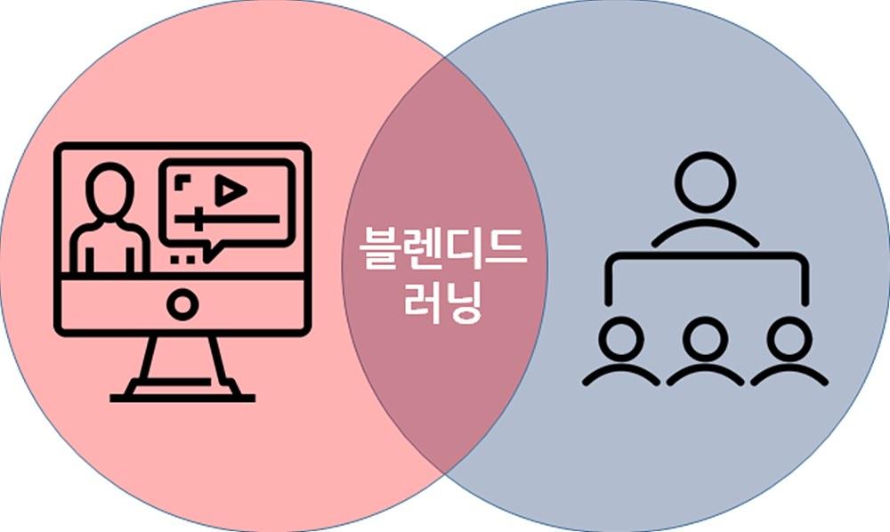 그림 6. 혼합형 학습(블렌디드 러닝, Blended Learning)