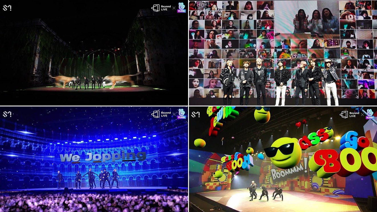 그림 4. AR, 인터렉티브 소통이 반영된 온라인 전용 라이브 콘서트 *출처 : 시사경제신문 (2020. 4. 29)