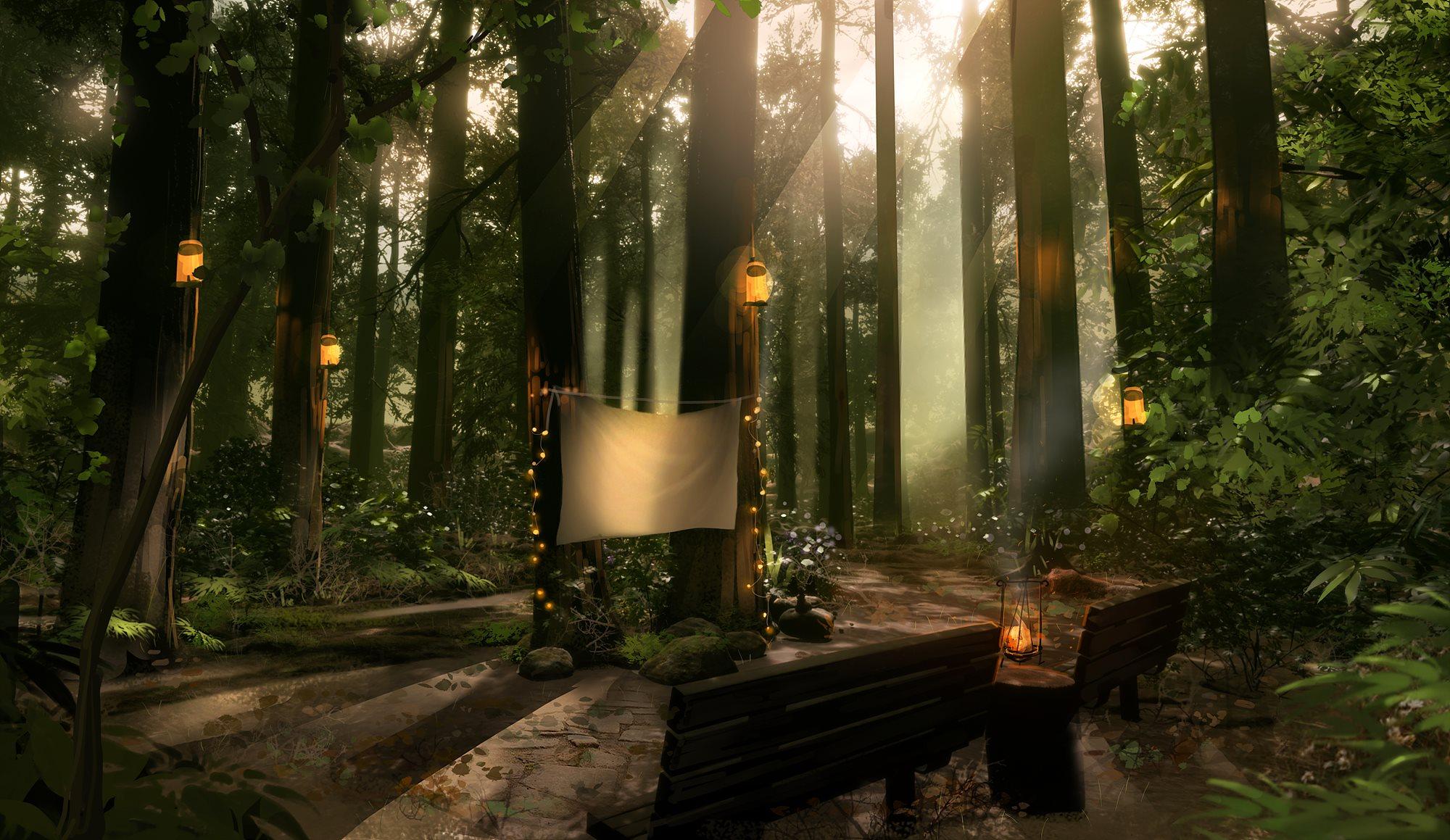 오대산 숲속 컨셉아트