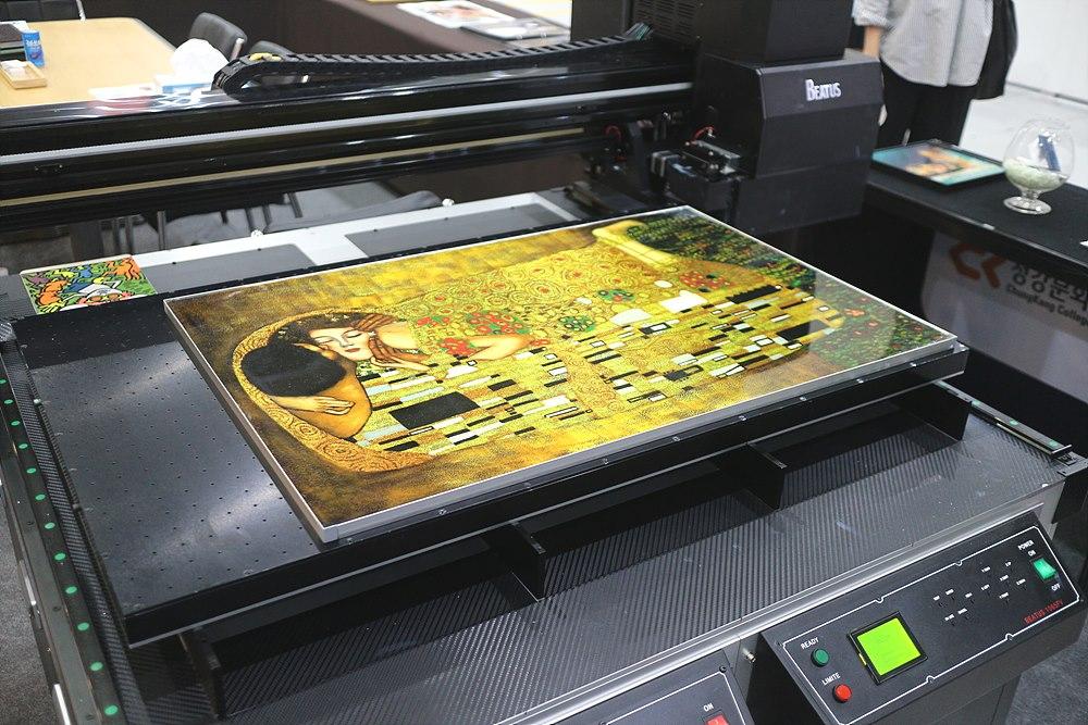 사진 특수인쇄 프린터 전시