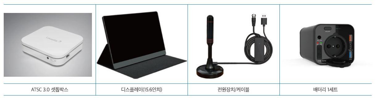 시범방송용 수신세트(실내 수신 환경)