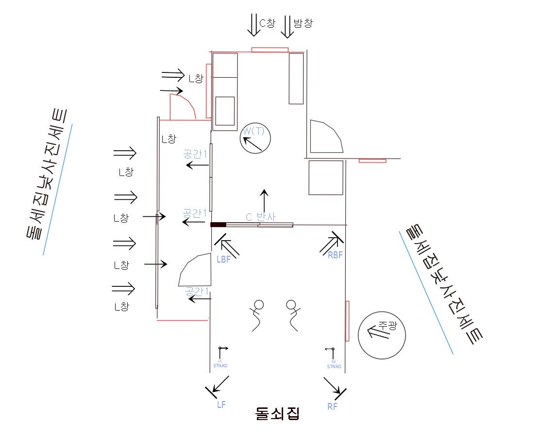 그림 11. 돌쇠집 조명 디자인