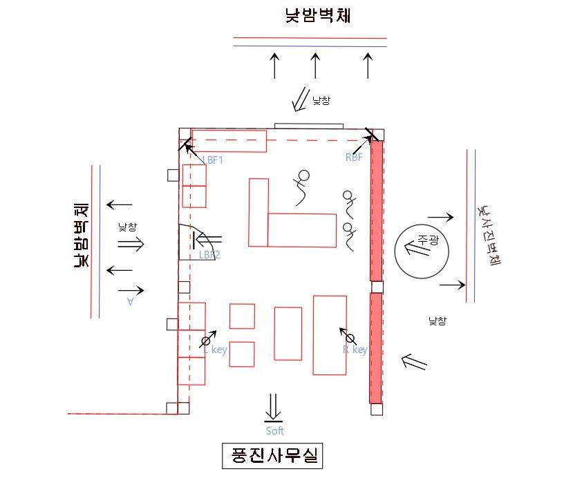 그림 14. 풍진 사무실 조명 디자인